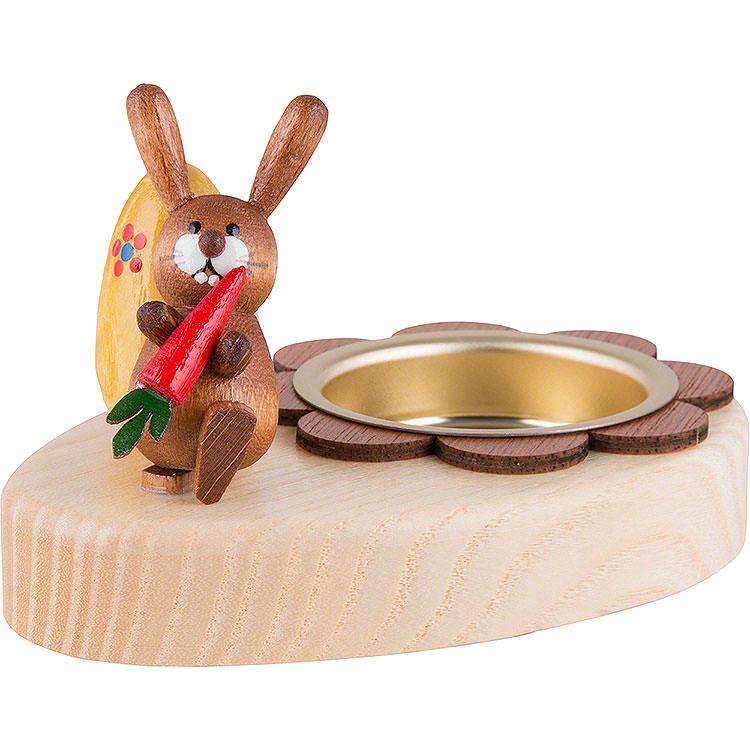Teelichthalter Hase mit Möhre und Ei  -  5cm