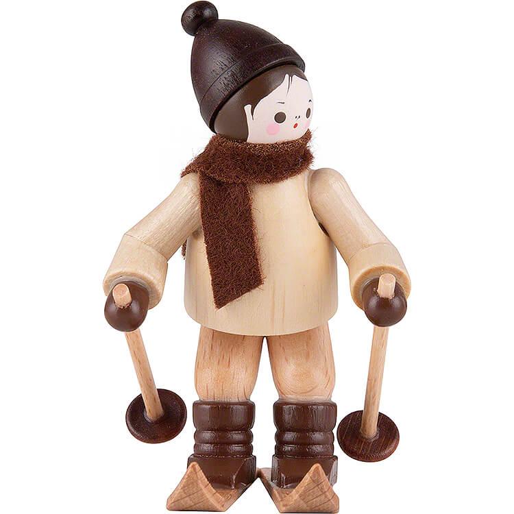 Thiel - Figur Abfahrtsläufer  -  natur  -  6,5cm