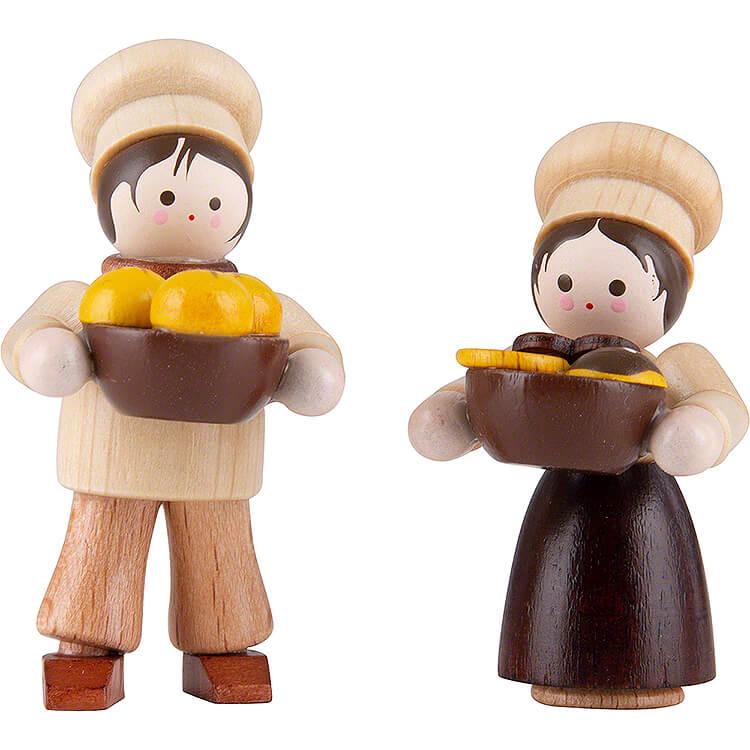 Thiel - Figur Bäckerkinder  -  natur  -  4,7cm