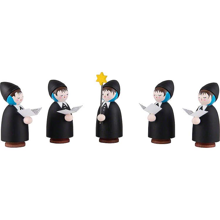 Thiel - Figuren Kurrende  -  5 - teilig  -  schwarz  -  5,5cm