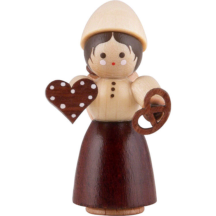 Thiel Figurine  -  Girl with Gingerbread  -  natural  -  4,5cm / 1.8 inch