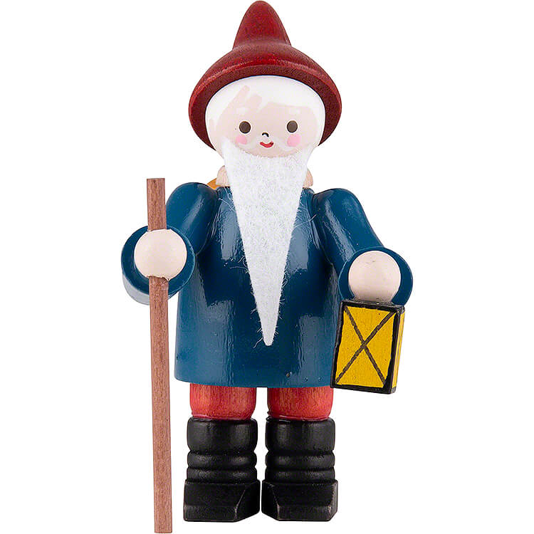 Thiel Figurine  -  Gnome with Lantern  -  coloured  -  6cm / 2.4 inch