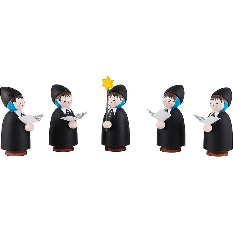 Thiel Figurines  -  Carolers  -  5 pieces  -  black  -  5,5cm / 2.2 inch