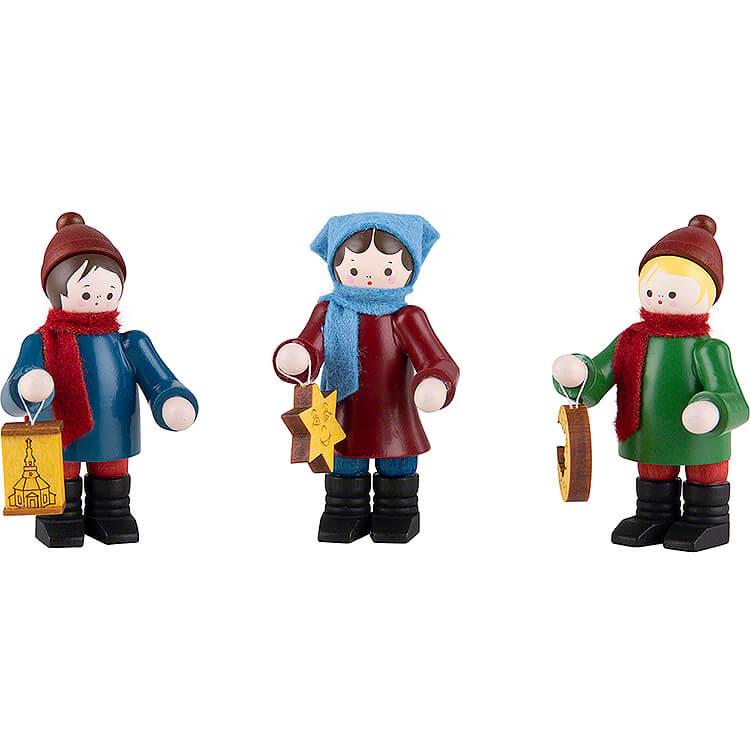 Thiel Figurines  -  Lampion Children  -  3 pieces  -  coloured  -  6cm / 2.4 inch