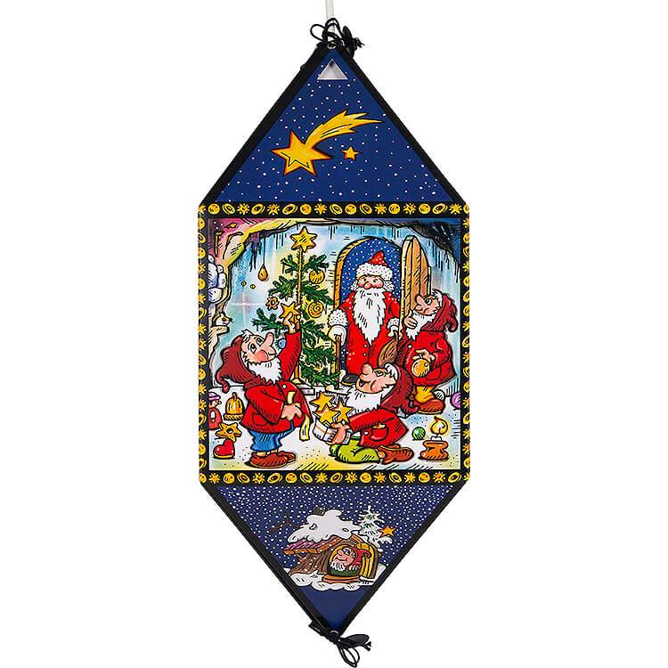 Weihnachtslaterne im Wichtelland  -  40cm
