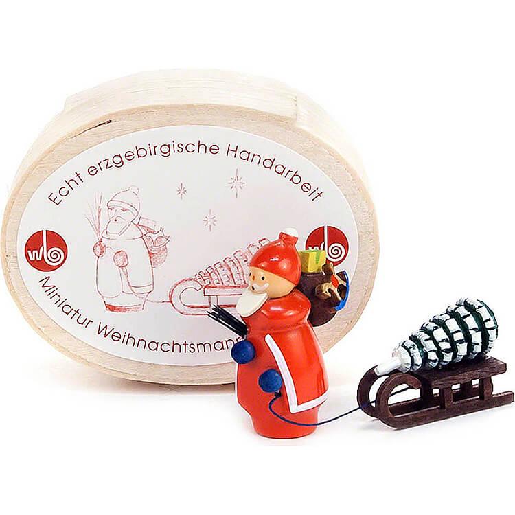 Weihnachtsmann mit Schlitten in Spandose  -  3cm