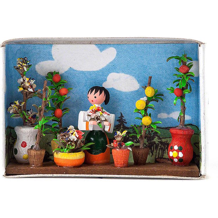 Zündholzschachtel Blumenmarkt  -  4cm