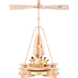 1 - Tier Pyramid  -  Angel Natural Wood  -  25cm / 9.8 inch