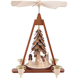 1 - Tier Pyramid  -  Angels  -  29cm / 11 inch
