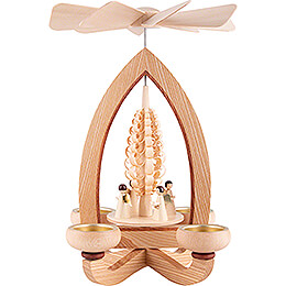 1 - Tier Pyramid  -  Angels  -  Natural  -  28cm / 11 inch