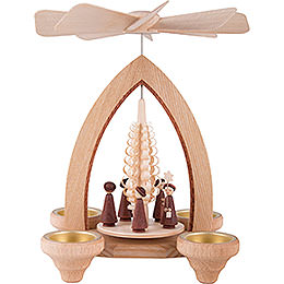 1 - Tier Pyramid  -  Carolers  -  Natural  -  26cm / 10.2 inch
