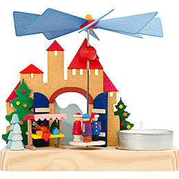 1 - Tier Pyramid  -  Christmas Market Children  -  12cm / 4.7 inch
