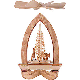 1 - Tier Pyramid  -  Deer  -  Natural  -  28cm / 11 inch