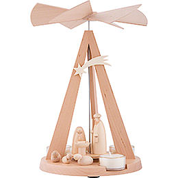 1 - Tier Pyramid Mini - Delta Nativity  -  Natural   -  26cm / 10.2 inch