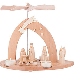 1 - Tier Pyramid  -  Nativity  -  23cm / 9 inch
