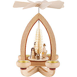 1 - Tier Pyramid  -  Nativity  -  Natural  -  28cm / 11 inch