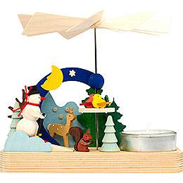 1 - Tier Pyramid  -  Snowman  -  12cm / 4.7 inch