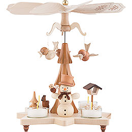 1 - Tier Pyramid  -  Snowman Natural  -  27cm / 11 inch