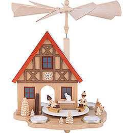 1 - Tier Pyramid  -  Winter Children  -  29cm / 11.4 inch