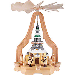 1 - stöckige Pyramide mit Seiffener Kirche  -  40cm