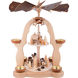 2 - Tier Pyramid  -  Forest People  -  40cm / 15.7 inch