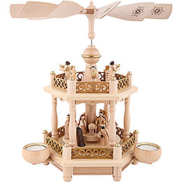 2 - Tier Pyramid  -  'Nativity'  -  35cm / 13.8 inch