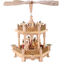 2 - Tier Pyramid  -  Nativity Scene  -  33cm / 13 inch