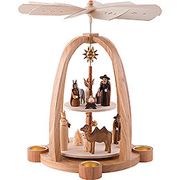 2 - Tier Pyramid  -  Nativity Scene  -  41cm / 16 inch