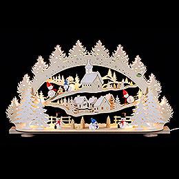 3D Candle Arch  -  'Snowman'  -  66x40x11,5cm / 26x16x5 inch