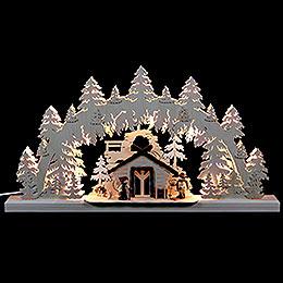 3D - Doppelschwibbogen Wanderhütte  -  62x33x5,5cm