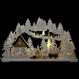 3D Double Arch  -  Altseiffen Handicrafts with Carved Figurines  -  72x43x8cm / 28x17x3 inch