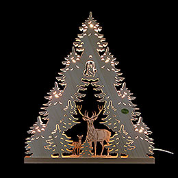 3D Light Triangle  -  'Deer'  -  38x44x4,5cm / 15x17.3x1.7 inch