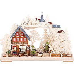 3D - Schwibbogen Kräuterstube  -  43x30cm