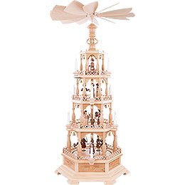 4 - Tier Pyramid  -  The Christmas Story  -  122cm /48 inch  -  230 V Electr. Motor