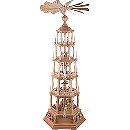 5 - Tier Pyramid  -  Nativity Scene  -  Natural Wood  -  140cm / 55 inch