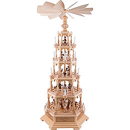 5 - Tier Pyramid  -  The Christmas Story  -  142cm / 56 inch  -  230 V Electr. Motor