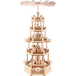 5 - stöckige Pyramide Christi Geburt  -  74cm
