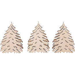 Additional Trees, Set of Three  -  5,5x5cm / 2.2x2 inch
