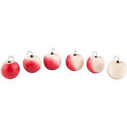 Äpfel 6 Stück mit Haken  -  2cm