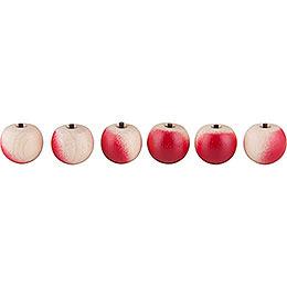 Äpfel 6 Stück ohne Haken  -  2cm