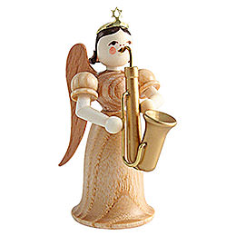 Angel Long Skirt with Saxophone, Natural  -  6,6cm / 2.6 inch