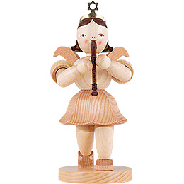 Angel Short Skirt with Recorder, Natural  -  20cm / 7.9 inch