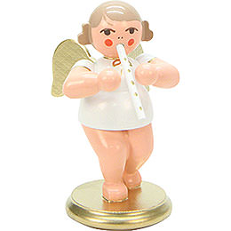 Angel White/Gold with Recorder  -  6,0cm / 2 inch