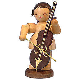 Angel with Cello  -  Natural Colors  -  Standing  -  9,5cm / 3,7 inch