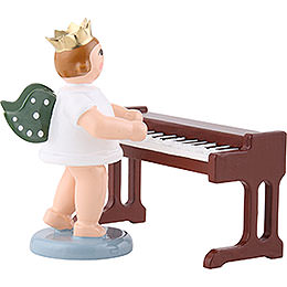 Angel with Crown at the Little Piano  -  6,5cm / 2.5 inch