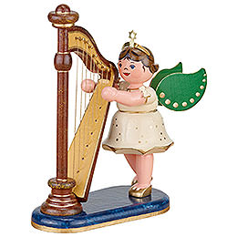 Angel with Harp  -  10cm / 4 inch