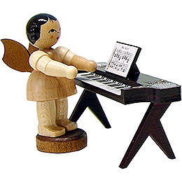 Angel with Keyboard  -  Natural  -  Standing  -  6cm / 2.3 inch