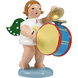 Angel with Large Drum and Cymbal  -  6,5cm / 2.5 inch