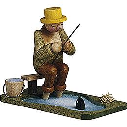 Angler am Teich  -  6,5cm
