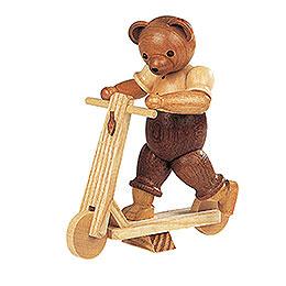 Bär auf Roller  -  10cm